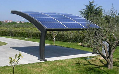 Pensiline per autosoave energia project for Carport 2 posti